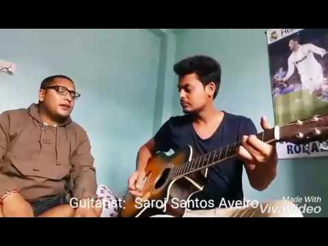 Samjhana Birsana Cover song featuring Saroj Santos Aveiro and Roshan ...