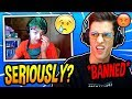 NINJA REACTS TO PRO FAZE PLAYER NATE HILL *BANNED* FROM FORTNITE SKIRMISH'S! Fortnite SAVAGE Moments