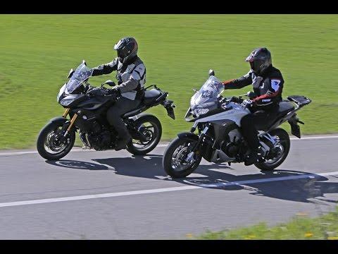 Honda Crossrunner 800 Vs Yamaha Tracer 900 2015 Test Motoit