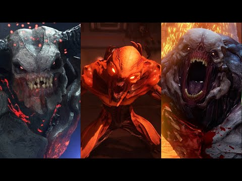 The Graphical Evolution Of Imp, Hell Knight And Baron Of Hell From DOOM 1 To DOOM Eternal
