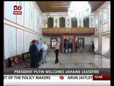Russia's President Putin welcomes Ukraine ceasefire