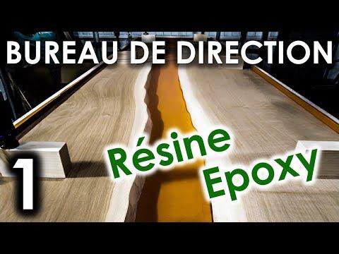 BUREAU de Direction RIVER TABLE Résine EPOXY | Partie 1