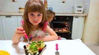 Una historia para niños sobre dulces y comida saludable