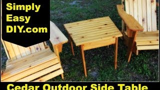 Cedar Adirondack Style Outdoor Side Table