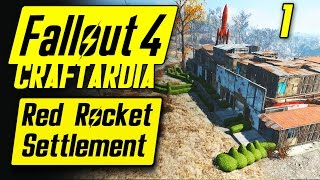 Fallout 4 Red Rocket Settlement 1 - Base Building Timelapse - Fallout 4 Settlement Building PC