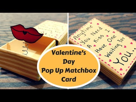 Love Theme Matchbox Pop Up card for Valentine's Day|| birthday gift for him