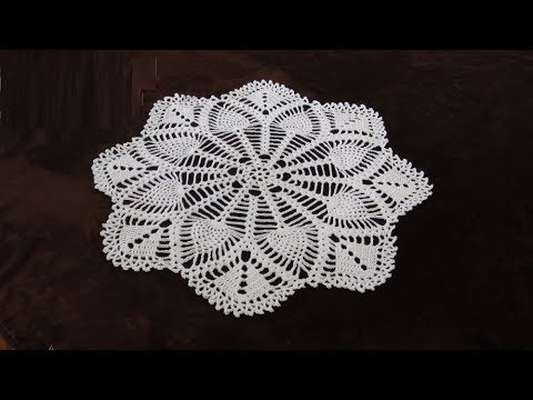 How To Crochet 30 Lace Pineapple Doily Pattern 711by