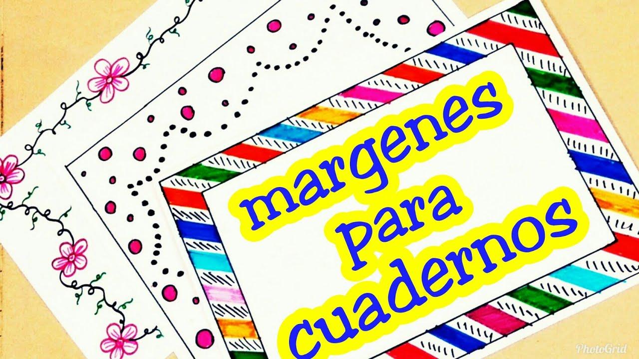 Ideas De MÁrgenes Para Decorar Cuadernos Y Libretas: Margenes Para Cuadernos