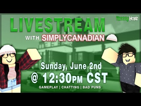 FroggyHopz Live - Sunday Gameplay w/ SimplyCanadian! [Games, Puns, & More!]