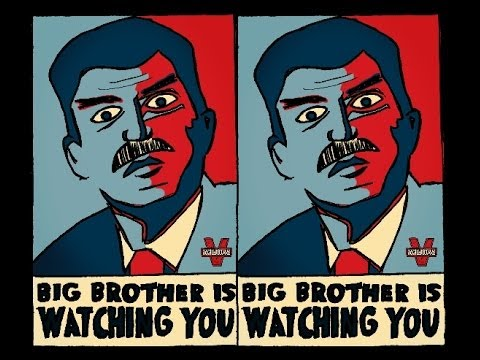 an analysis of big brother in 1984 by george orwell George orwell's dystopian classic is dominating the news these days  you, too , will love big brother: a life of reading and rereading '1984'  of the original  experience, the layers of thought and meaning, can get lost in.