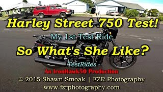Harley Street 750 Test Ride! - So What