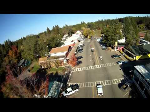 Georgetown California, flight down street with Heli and Gopro - HDR