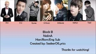 Block B - NalinA (color coded Han/Rom/Eng) lyrics