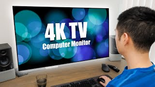 How I Use a 4K TV as a Monitor for Productivity