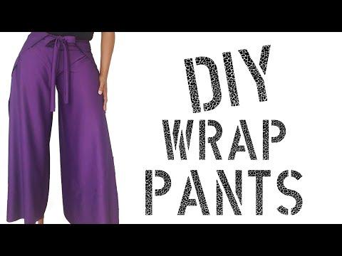 DIY How To Make Wrap Pants