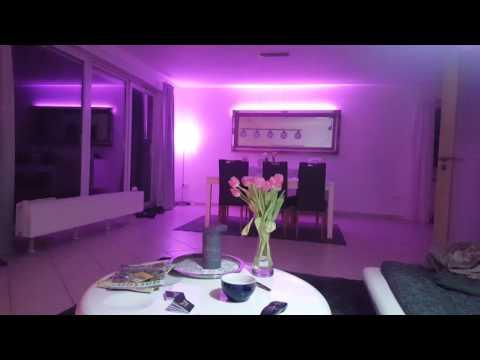 Disco Licht mit Philips Hue E27 und Stripes