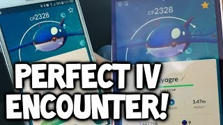 INSANE!!! PERFECT IV KYOGRE ENCOUNTER IN POKEMON GO WITH EXCELLENT THROWS! (100% IV KYOGRE GAMEPLAY)