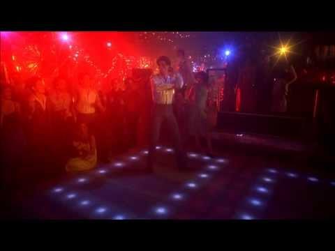Saturday Night Fever Bee Gees, You Should be Dancing John Travolta HD 1080 with Lyrics