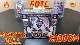 2018 Panini Select Football FOTL Hobby Box Break #2 - MONSTER PULL! KABOOOOOOM! 🔥🤯