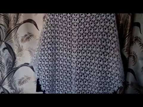Мотив для шали крючком (урок и схема)