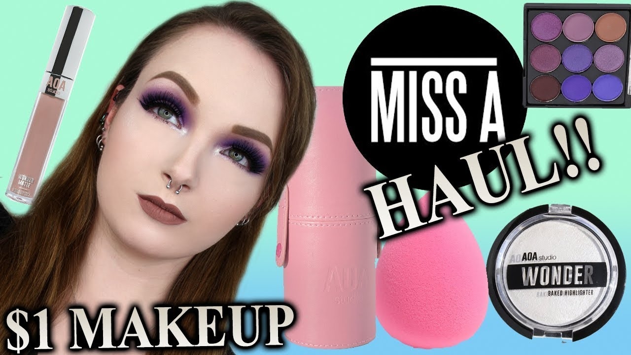 1ab9da367d FULL FACE USING $1 MAKEUP (SHOP MISS A HAUL) by Lethal Kitten