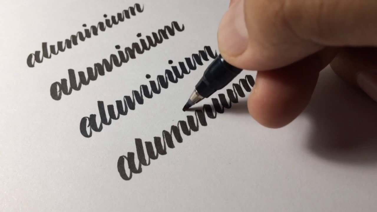 a quick comparison of my favorite pocket brush pens hand lettering