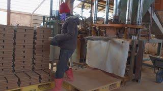 부착용황토벽돌생산과정