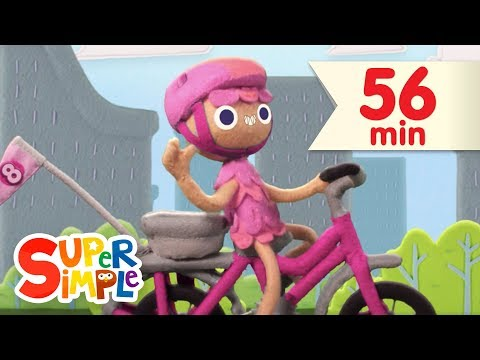 10 Little Bicycles  + More Kids Songs  Super Simple Songs