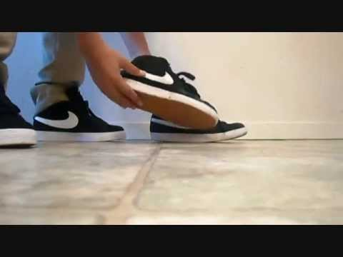 3d91755b8b18c Nike Sb Blazer BlackWhite On Feet Review - YouTube