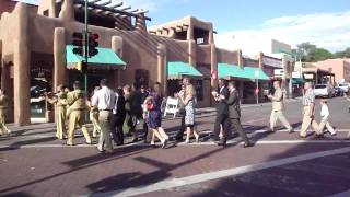 Wedding ceremony procession in Santa Fe, New Mexico on July 3rd 2010