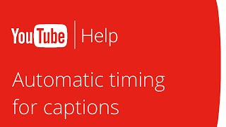 Automatic timing for captions