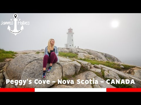 CRAZY SEA MIST AT PEGGY'S COVE & CAR RENTAL IN CANADA | Barbster360 Travel Vlog