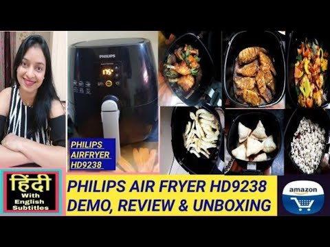 philips-air-fryer-hd-9238-review,-digital-display,-demo,-unboxing,-latest-price---in-hindi