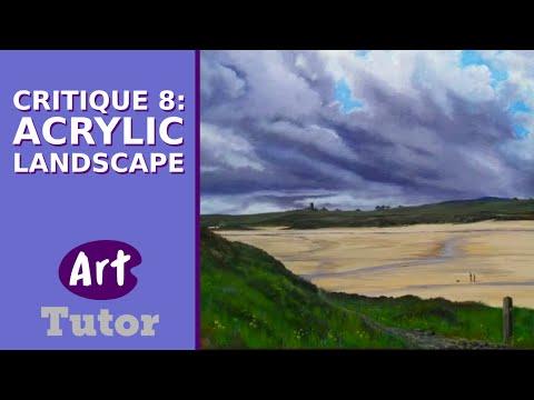 Critique 8: Acrylic Landscape
