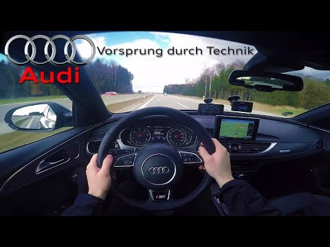 2017 Audi A6 Bi-Turbo Competition (0- 265km/h) POV- Acceleration, Top speed TEST✔