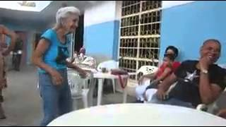 Old lady dance on indian song (sona kitna sona h)