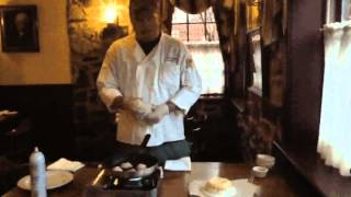 Olde Bryan Inn's Pesto Parmesan Diver Scallops