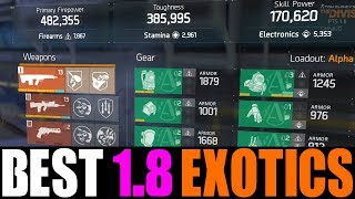 THE DIVISION - TOP 5 BEST EXOTIC WEAPONS IN PATCH 1.8! STRONGEST PVP & PVE WEAPON AFTER PATCH