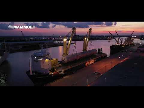 850t vessel move in Texas