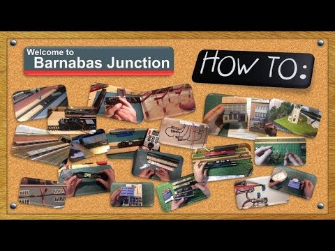 How To: Building A OO Gauge Station Platform Canopy Card Kit  – PART 1