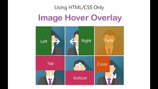 How to create image overlay hover effect using HTML and CSS only