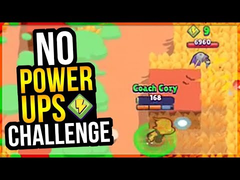 WORST BRAWLER + NO POWERUPS! Can We Win??
