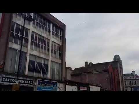 Demolition of buildings, North Street, November 2016.