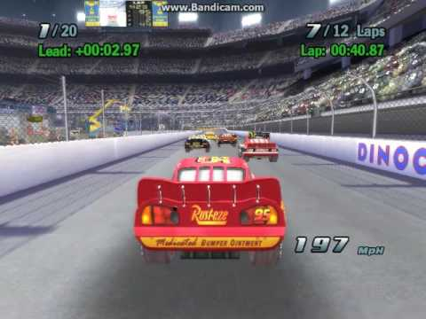 Cars The Video Game Motor Speedway Of The South Youtube