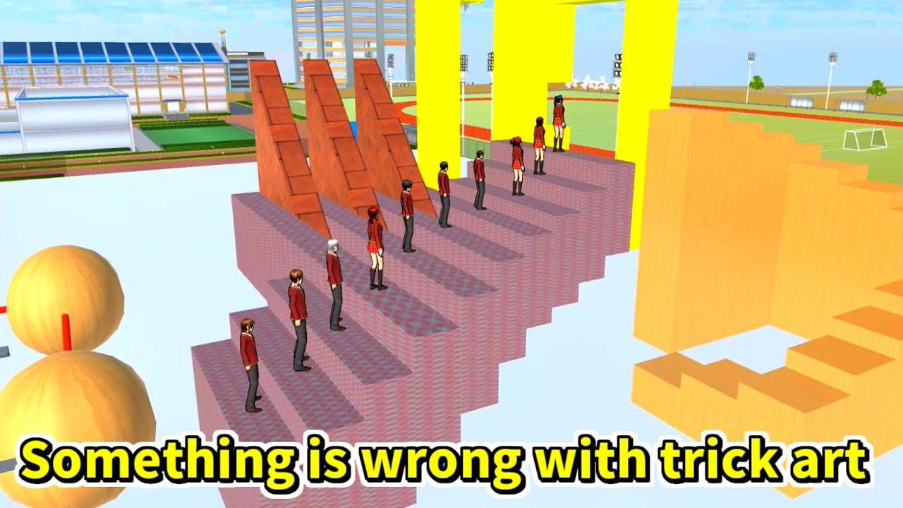 【サクラスクールシミュレーター】何かがおかしいトリックアート Something is wrong with trick art
