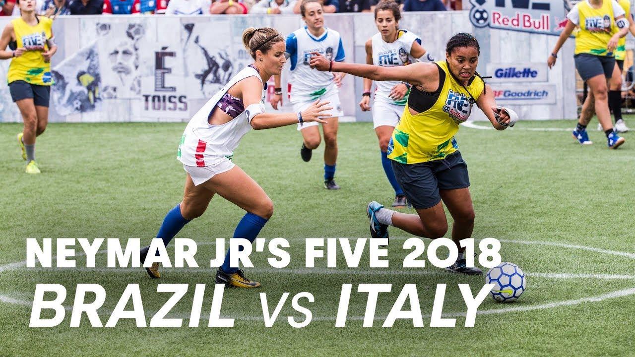 Neymar Jr's Five 2018 Women's Final Match: Brazil vs Italy | Five-A-Side Football Tournament