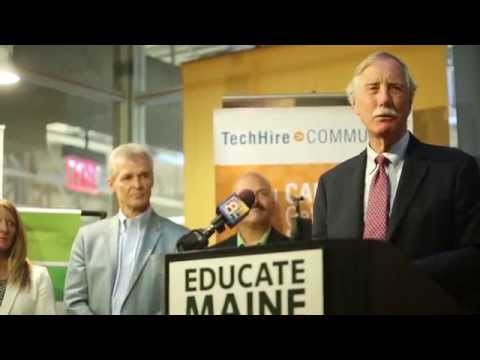 Sen. Angus King at TechHire Maine launch