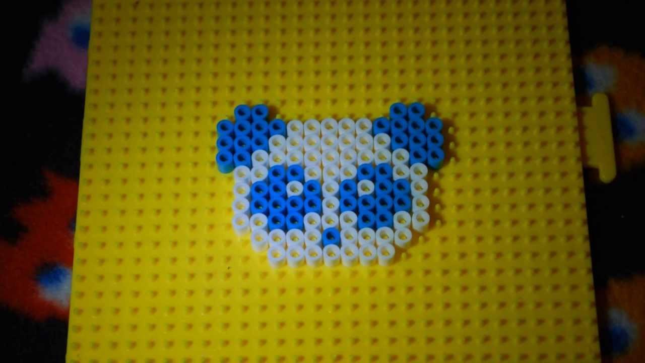 2012 Fusion Fuse Box Panda Perler Beads Charm Keychain Youtube