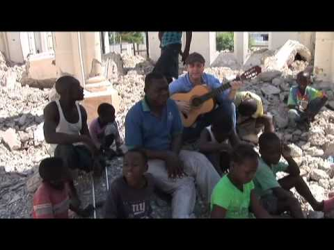 Michael Londra singing in Haiti