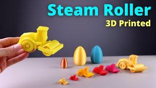 3D Printed Road Steamroller in a Surprise Egg